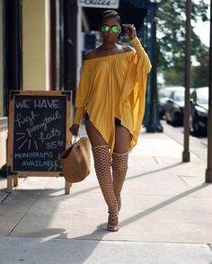 Honey Glow, Mustard Hanky Top by InsideOut , Boots from Macys Summer Outfit Idea by Young at Style - Fashion from the hottest fashion bloggers...