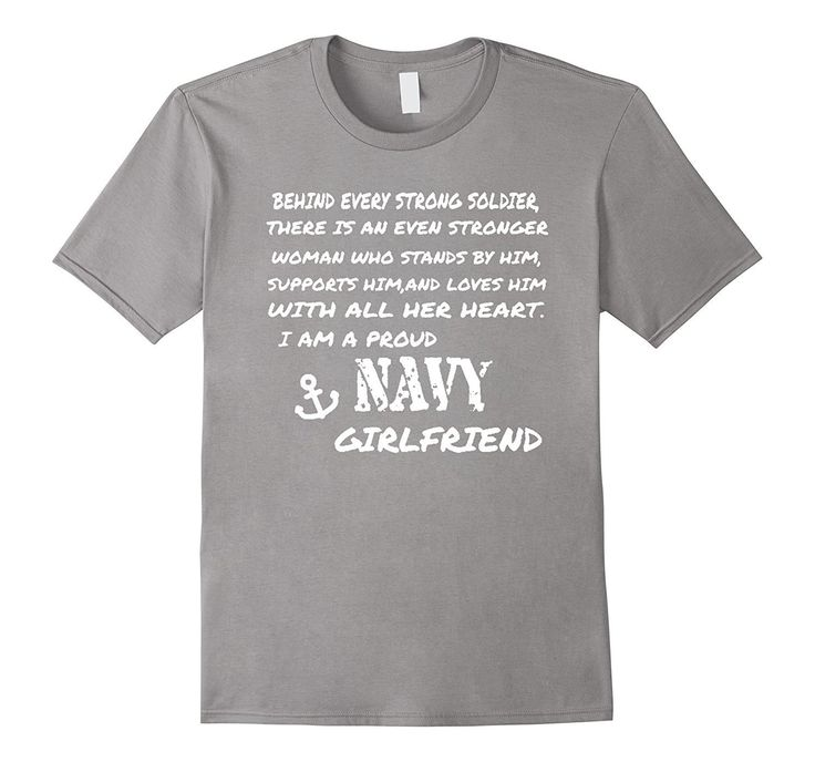 I Am A Proud Navy Girlfriend Funny T-Shirt