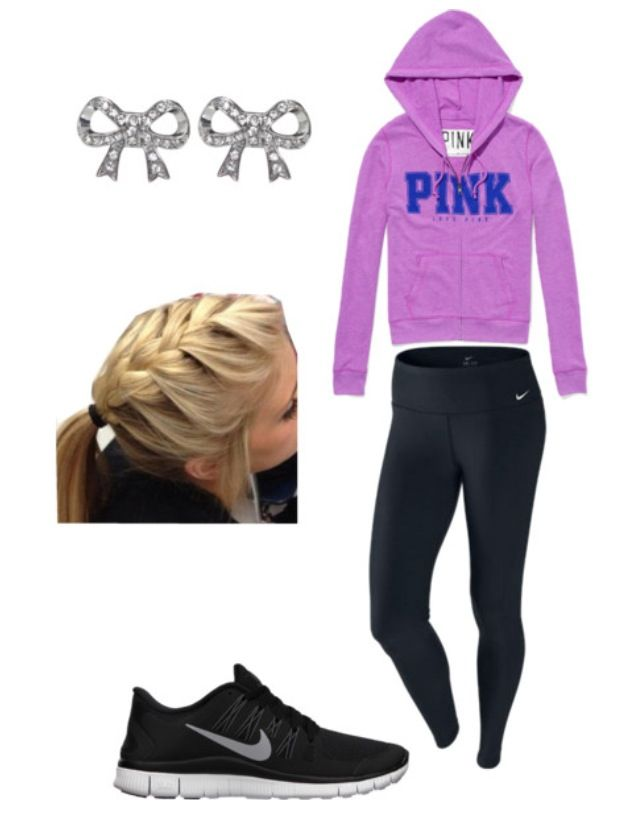 Victorias Secret VS PINK LOVE Cute outfit workout clothes NIKE wow a (pink  ) out fit with not a spot of pink in it