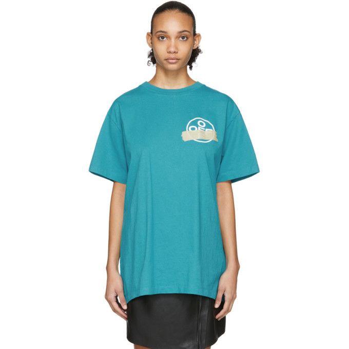 Off White Blue Tape Arrows T Shirt In Blue Beige Modesens Arrow T Shirt Shirts Frugal Male Fashion