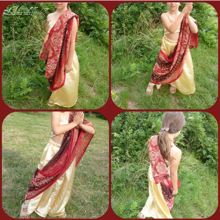 Amandille: Un simili sari pour se déguiser en princesse des Indes ( tuto couture gratuit )