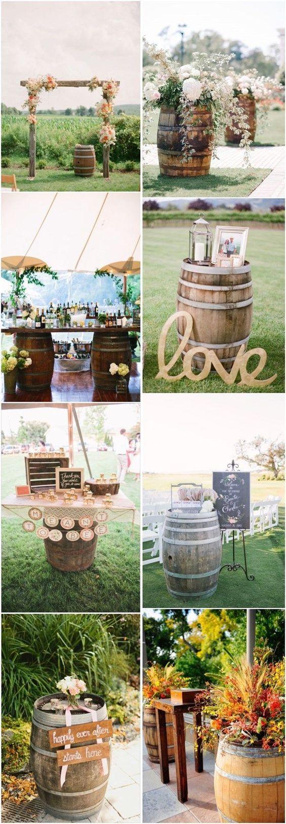 On aimerait vous présenter ici une idée de décoration que nous aimons beaucoup. Le recyclage de vieux tonneaux de vins ou de whisky. Ils donnent une touche champêtre et naturel, avec aussi une touc…