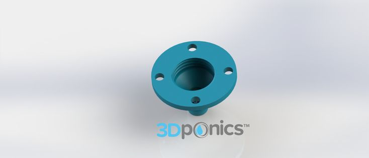 Drip Nozzle (4 Hole, 3/4 Inch) | Screws on to bottle like a bottle cap and ensures that the water drips at a controlled rate. To attach to the next bottle, thread zip ties through the four holes. Fits 3/4-inch tubing. #3Dponics