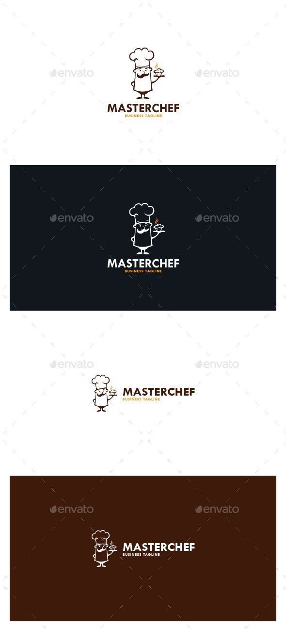 Master Chef Logo Template #design #logotype Download: http://graphicriver.net/item/master-chef-logo/13101029?ref=ksioks
