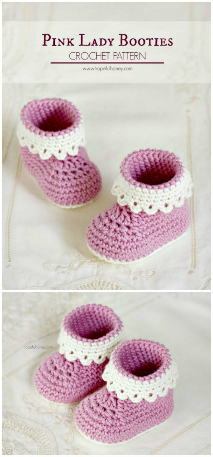 Crochet Baby Booties - 55 Free Crochet Patterns for Babies | Crohet ...