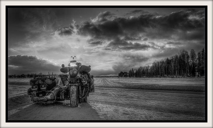 Kemi River Ice Road, Rovaniemi, Finland.