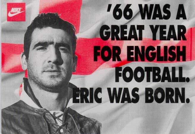 "Éric Daniel Pierre Cantona (born May 24, 1966) is a French former footballer of the 1990s. He ended his professional footballing career at Manchester United where he won four Premiership titles in five years, including two league and FA Cup ""doubles"". ."