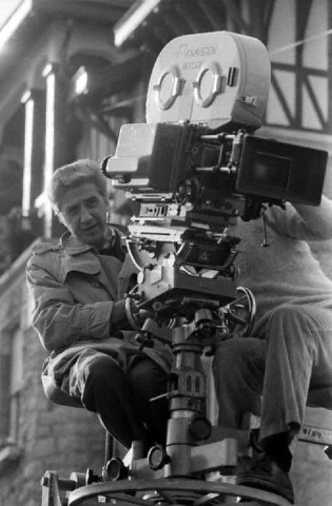 Alain Resnais with cameraAlain Resnais, Film Director, White Film, Film B W