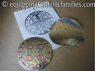 St Benedict Holy Medal with free printable | Equipping Catholic Families