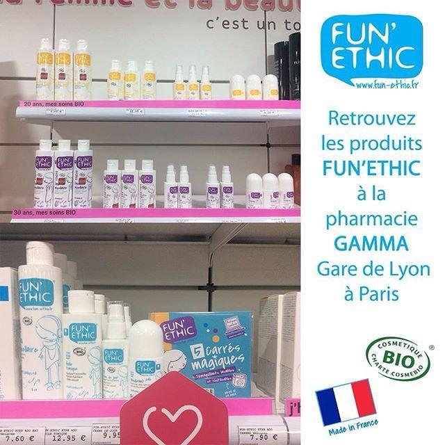 Fun'Ethic débarque à Paris !  Venez découvrir nos produits à la pharmacie Gamma #GaredeLyon à Paris !!! #funethic