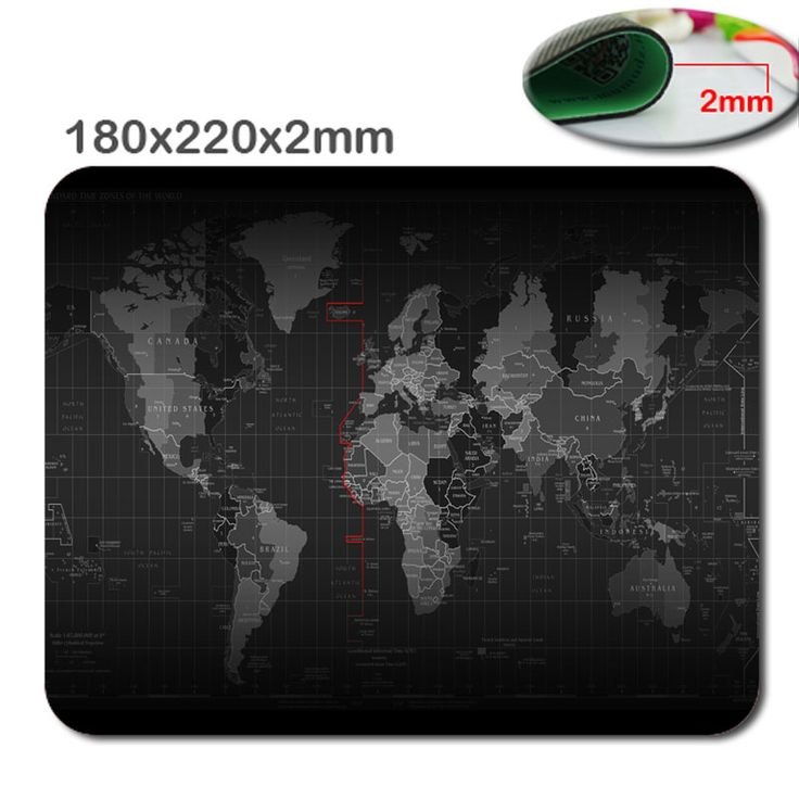 World map Quick custom 3D printing rubber game mouse pad size  180 mm * 220 mm * 2 mm lasting computers and laptops mouse pad