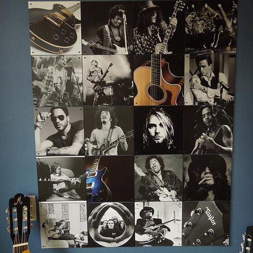 IXXI wall decoration made with a collection of images of the owners favorite guitar legends. This IXXI will cost $72.20 (own images, 80 x 100 cm). #ixxi #ixxidesign