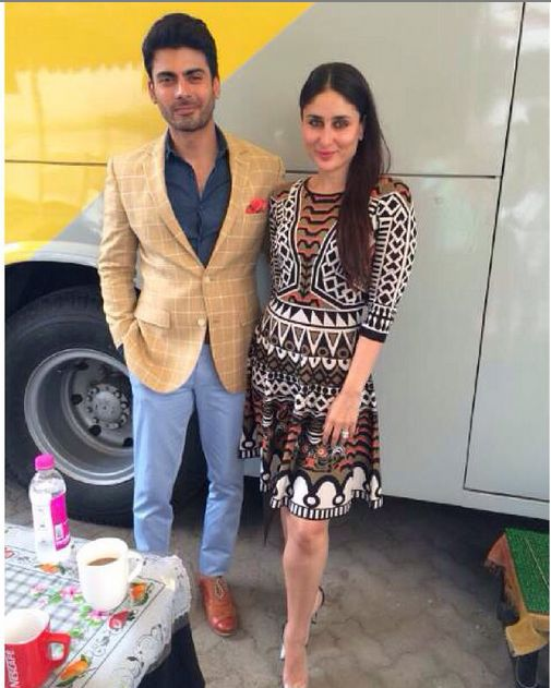 Fawad Khan and Kareena Kapoor Take Friendly Selfie