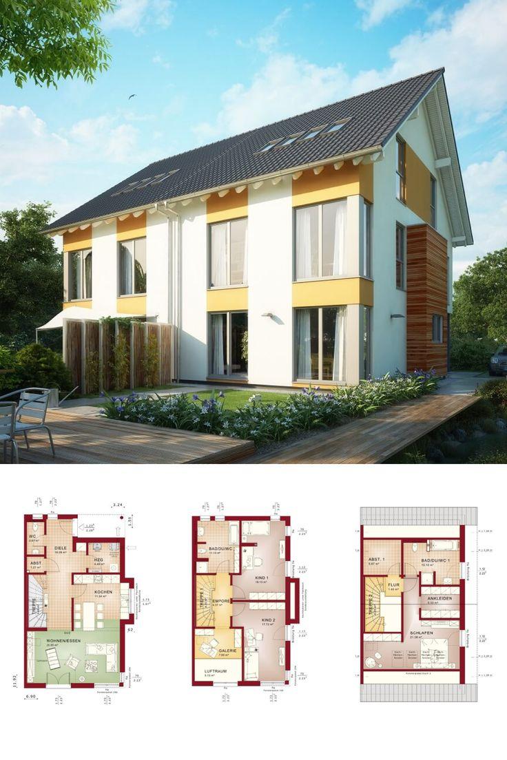 Modernes Doppelhaus mit Dachgeschoss 3 Etagen Haus