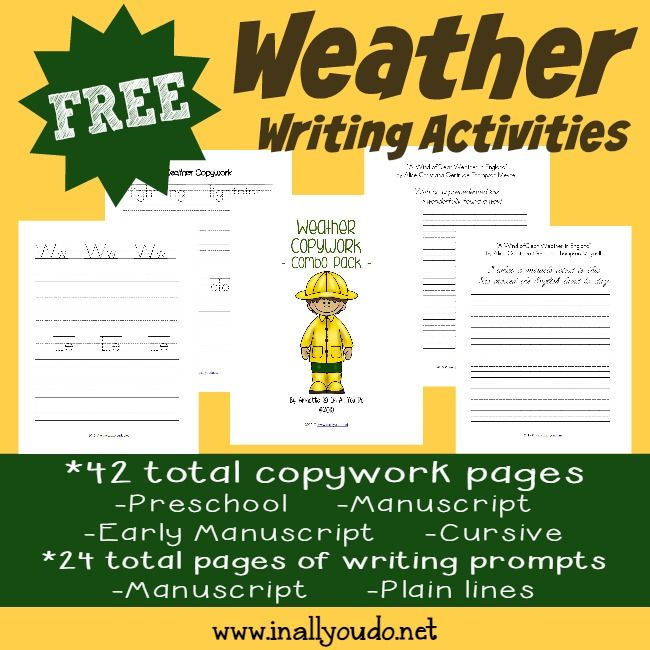writing activity about weather news