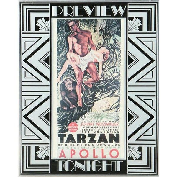 1932 Original Tarzan Movie Poster by Atelier Konig Weninger ($360) ❤ liked on Polyvore featuring home, home decor, wall art, posters, typography wall art, signed poster, movie quote posters, word wall art and quote wall art
