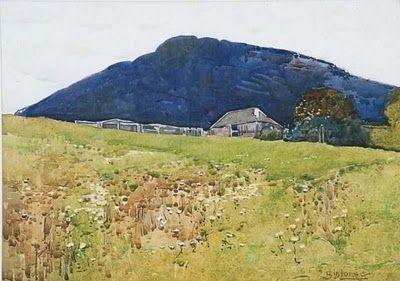Sydney Long (1871-1955) Australian Artist. landscape Painting