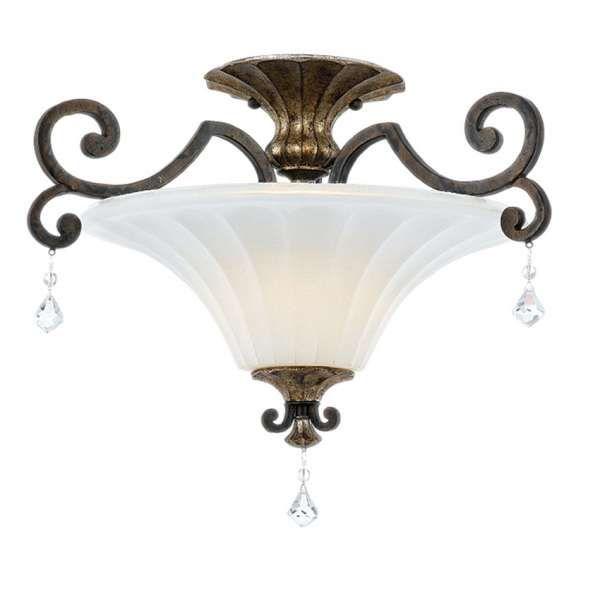 LAMPA wisząca QZ/MARQUETTE/SF Elstead QUOIZEL metalowa OPRAWA ZWIS z kryształkami brąz crystal biały