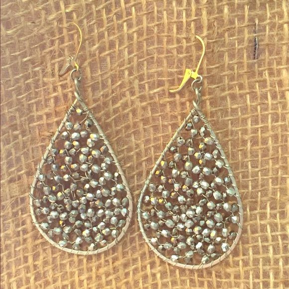 Noonday Collection water drop Prisim earrings Noonday Collection water drop Prisim earrings  - like new - were just too big for my taste but beautiful and sparkly all over. Noonday Collection  Jewelry Earrings
