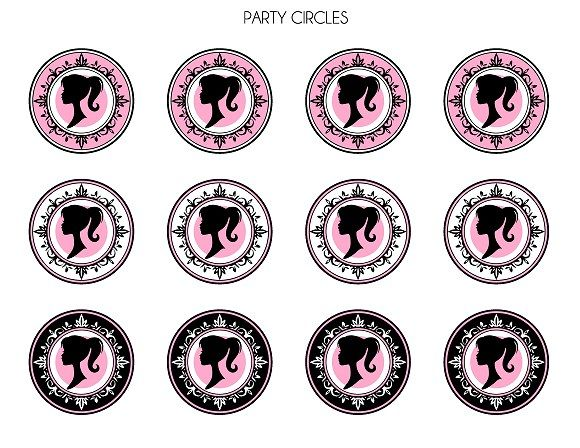 FREE Vintage Barbie Party Printables from Printabelle | Catch My Party