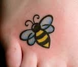 bee tattoo, cute and simple