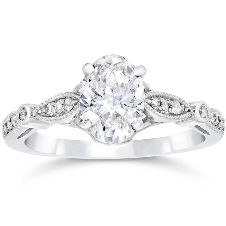 1000 ideas about vintage oval engagement rings on