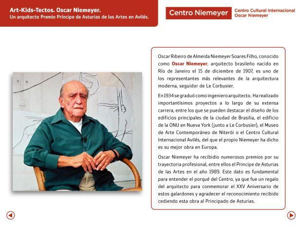 Art-Kids-Tectos. Oscar Niemeyer. Un arquitecto Premio Príncipe de las Artes en Avilés.