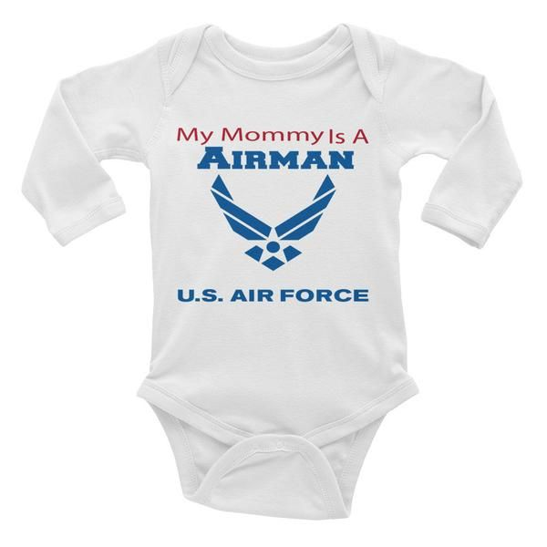 My Mommy is an Airman - Infant long sleeve one-piece