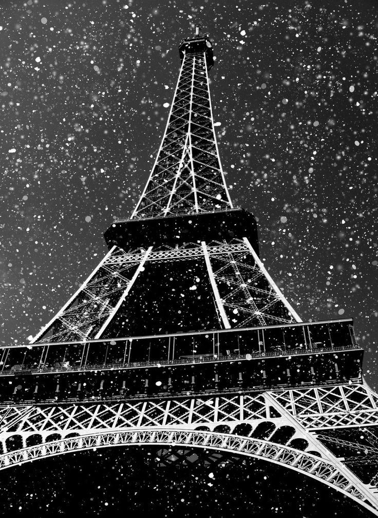 snowing in Paris: Paris Snow, Favorite Things, Favorite Places, France Travel, Paris France Snow, Eiffel Towers, Snow In Paris, Black White, Paris Winter