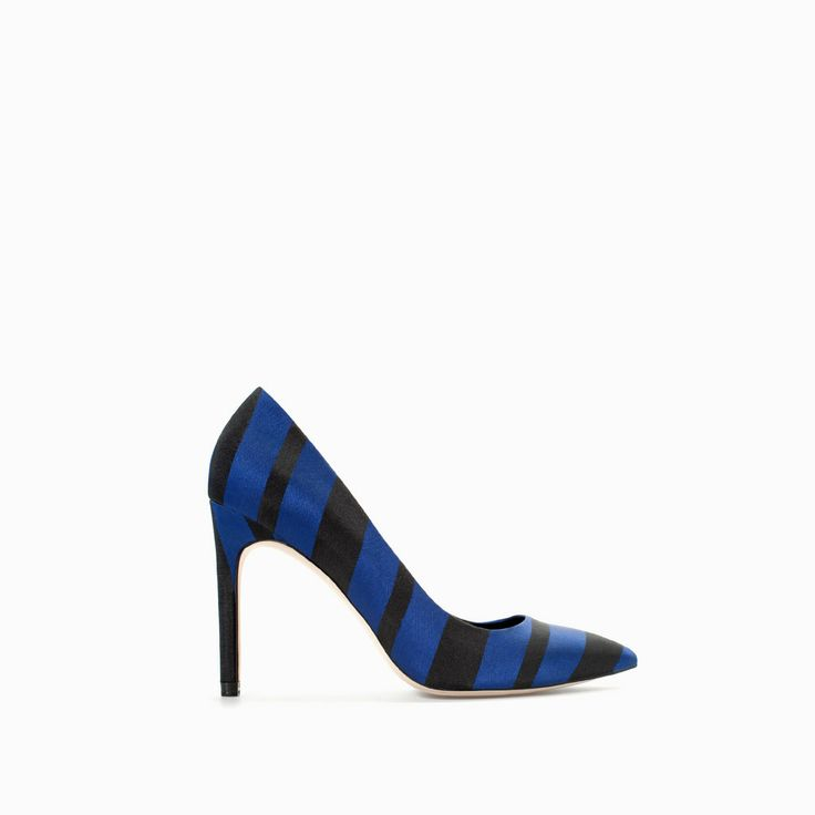 Image 1 of HIGH HEEL STRIPED COURT SHOE from Zara