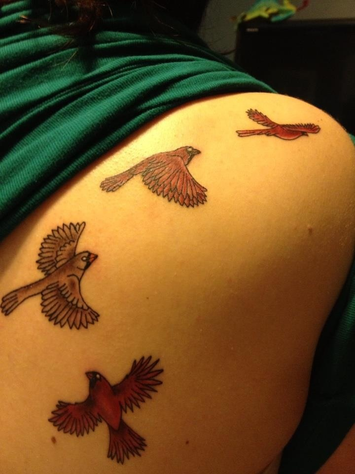 Cardinal bird tattoo!!! <3