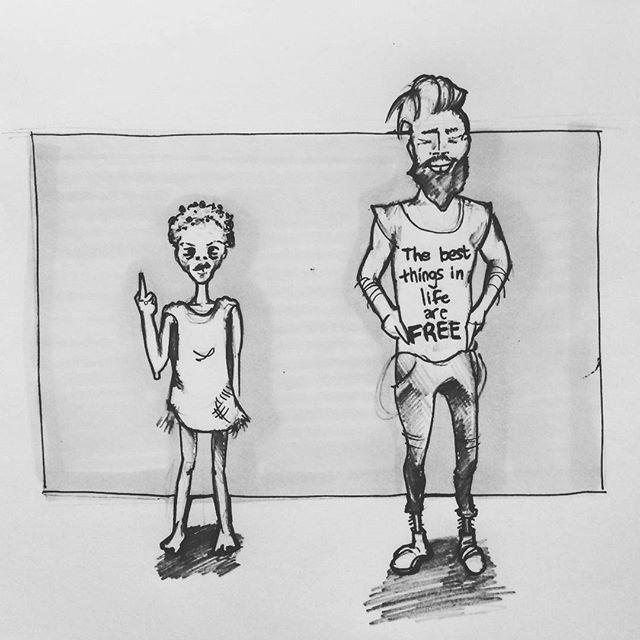 Hipsters vs the world   _______________________________________  #capetown #sketchaday #artistmafia #artempire #worldofartists #artgallery #art_spotlight #art_empire #art_collective #bangbangstudio #sketch #drawing #skechbook #concept #speedsketch #characterdesign #commentary