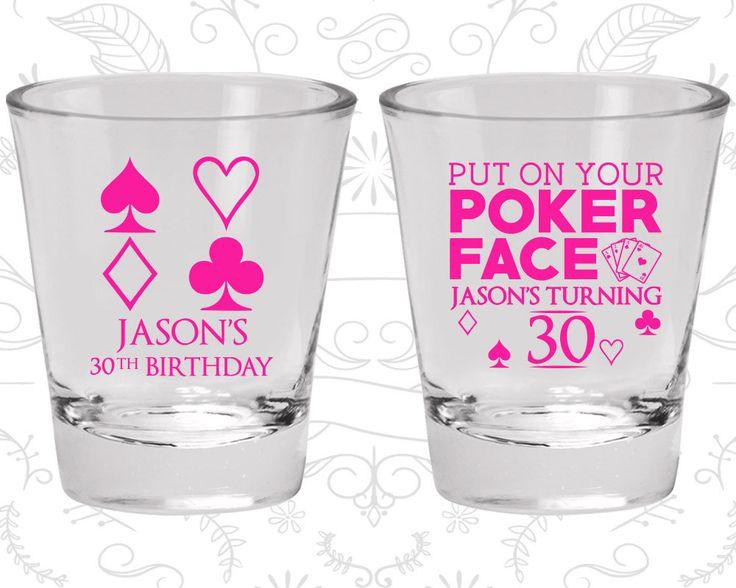 30th Birthday Shot Glasses, Custom Birthday Shot Glass, Las Vegas Birthday, Poker Birthday, Casino Birthday, Birthday Shot Glasses (20062)