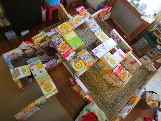 Giant Maze from Cereal Boxes and more Earth Day Activities for Preschoolers