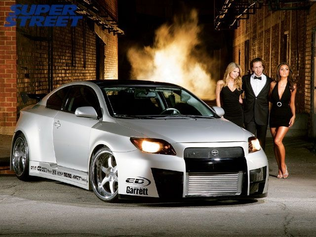 2005 Scion tC with wide body kit #ForTheDriven #Scion #Rvinyl =========================== http://www.rvinyl.com/Scion-Accessories.html