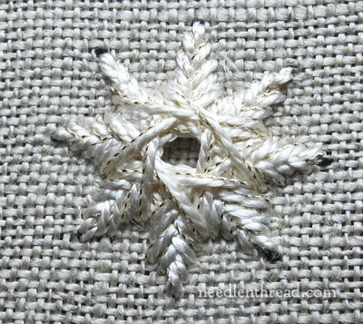 Star Stitch Embroidery Stitch 6 pointed and 8 pointed for snowflake this site has many, many stitches