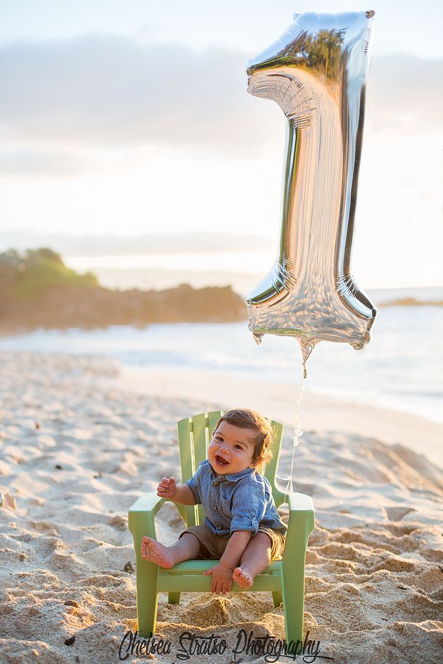 First birthday cake smash photo shoot at the beach!