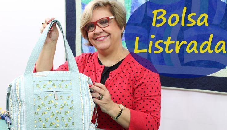 Patchwork Sem Segredos (Ana Cosentino): Aula 43: (16/05/2016) BOLSA LISTRADA
