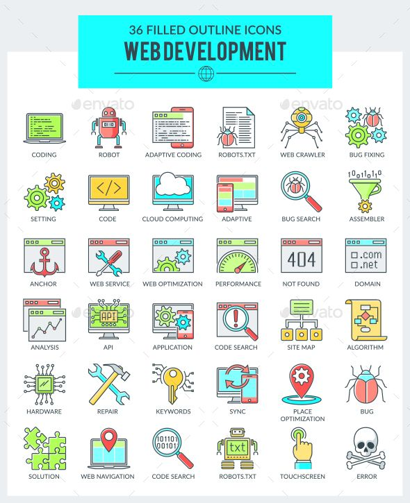 WEB Development and Programming Icons