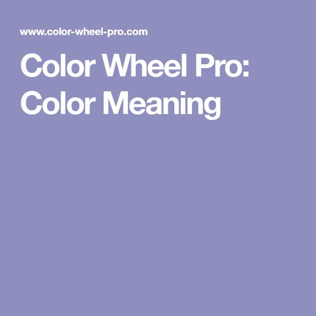 Color Wheel Pro: Color Meaning