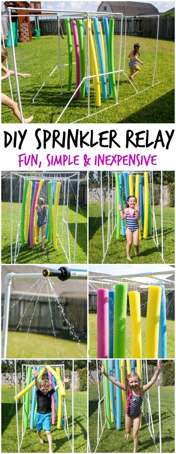 DIY Sprinkler Relay – a fun summer activity for kids who … #children #fun #relay #summer activity #sprayers
