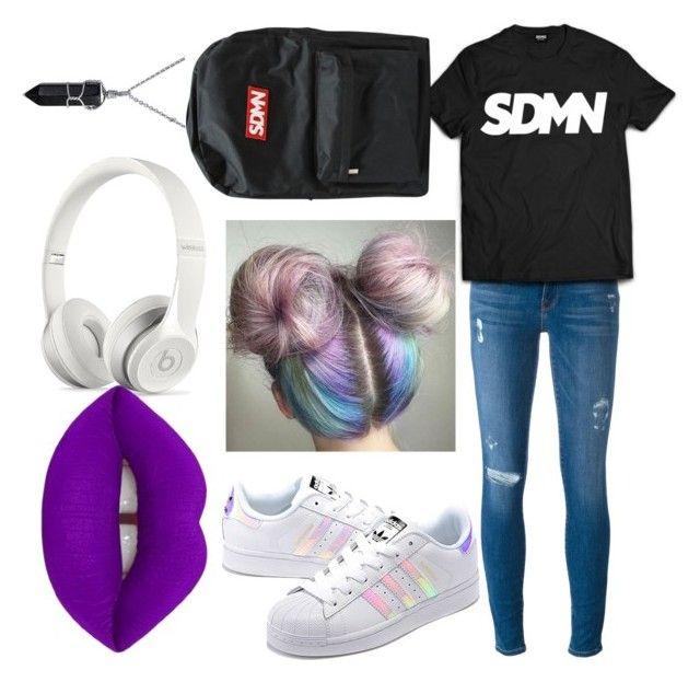 """""""Sidemen XIX"""" by tigzx03 ❤ liked on Polyvore featuring Frame, adidas Originals, Beats by Dr. Dre, Lime Crime and Bling Jewelry"""
