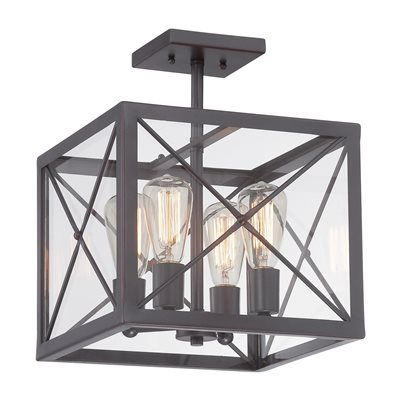 Designers Fountain 87311-SB High Line Semi Flush Ceiling Light