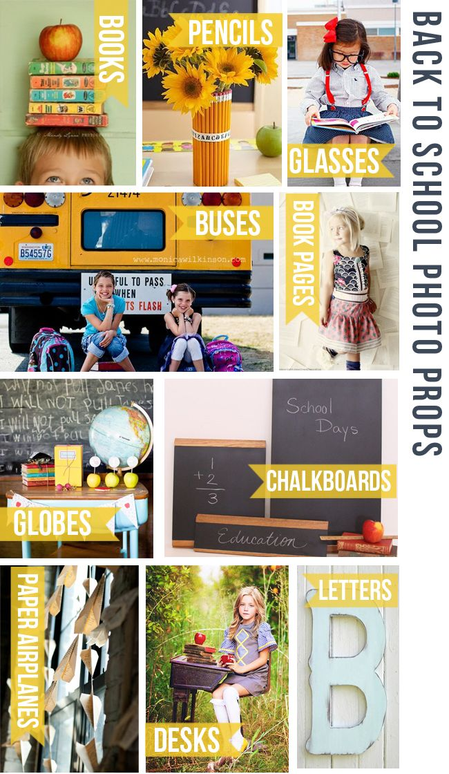 Really cute ideas for props that will help you take standout back-to-school photos of the kids. From Rosemary Watson Photography.