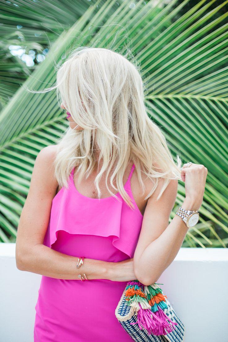 Pink Sundress + Tassel Clutch - Mckenna Bleu