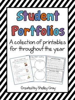 Student Portfolios: A Collection of Printables for Throughout the Year | Shelley Gray | {2-4}