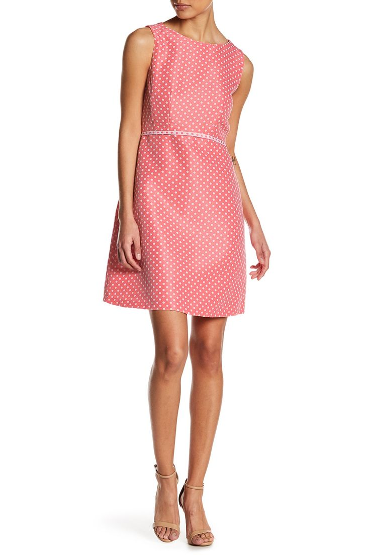 Polka Dot Fit & Flare Dress (Petite)