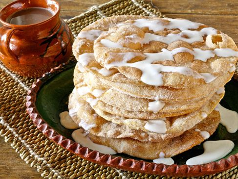 Buñuelos with Honey Crema! Quick and easy recipe! A must have at Christmas! But I can never make them like my Abuela!