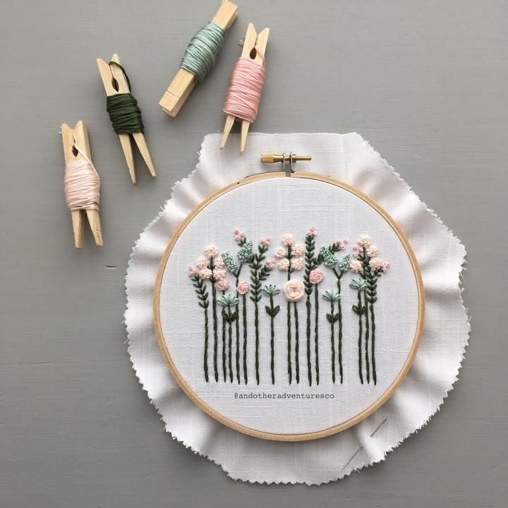 Pretty Pastel Wildflowers Hand Embroidery Pattern – Digital Download – And Oth…