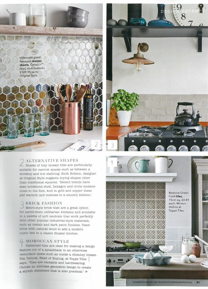 country homes interiors october 2015 a feature on kitchen splashbacks includes our glass